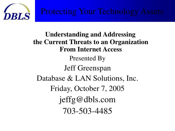 protecting your technology assets n.
