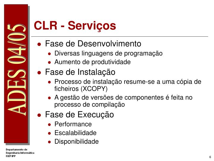 CLR - Serviços