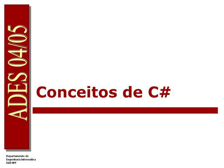 Conceitos de C#