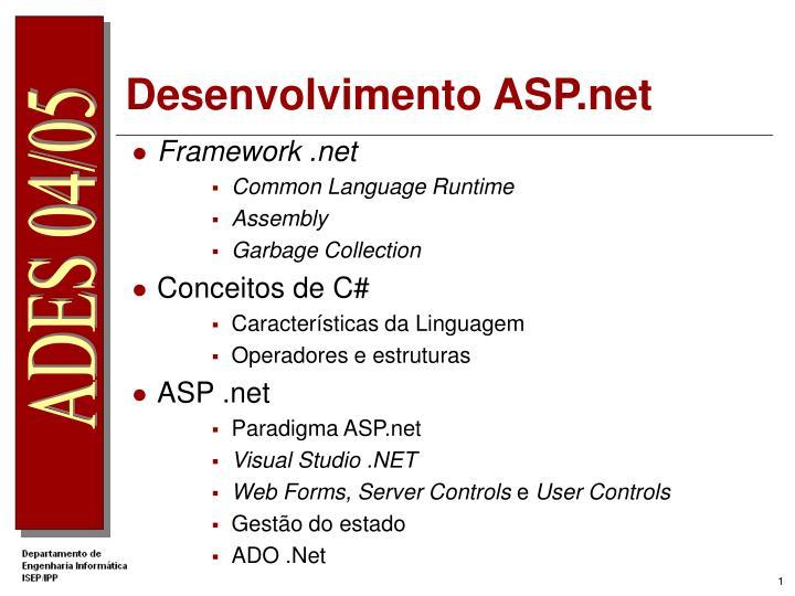 Desenvolvimento asp net1