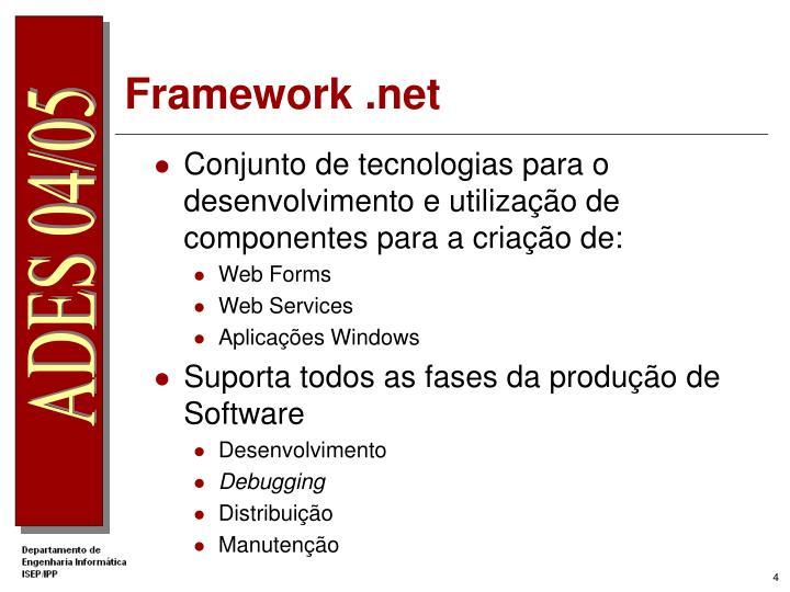 Conjunto de tecnologias para o desenvolvimento e utilização de componentes para a criação de: