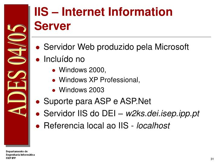 IIS – Internet Information Server