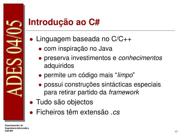 Introdução ao C#