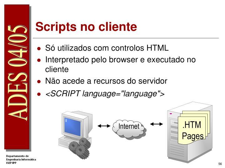 Scripts no cliente