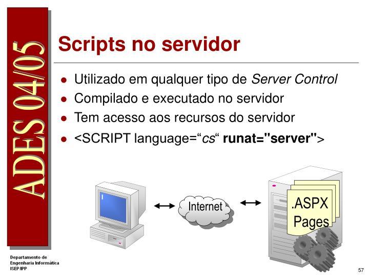 Scripts no servidor