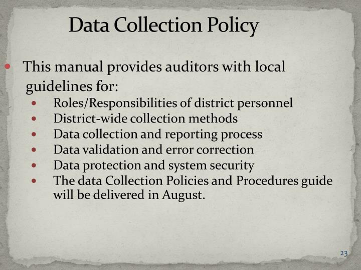 Data Collection Policy
