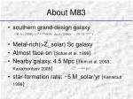about m83