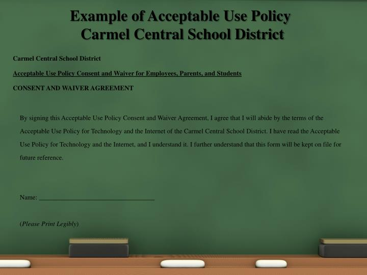 Example of Acceptable Use Policy