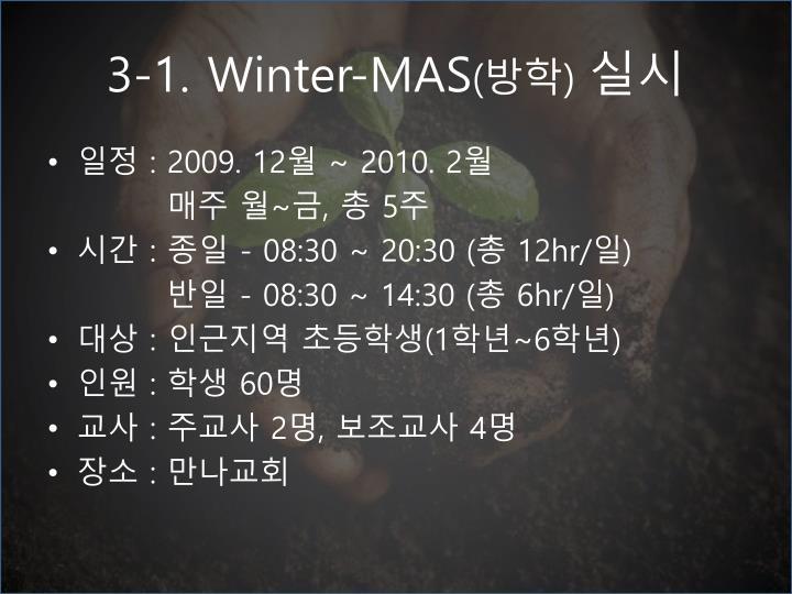 3-1. Winter-MAS