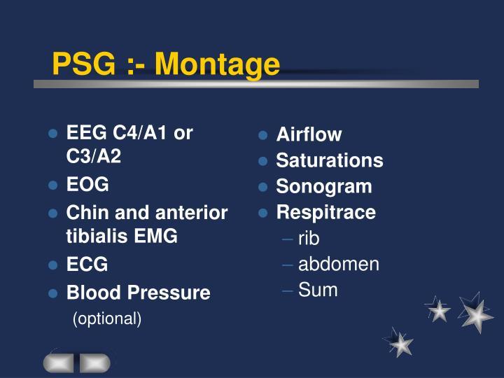 EEG C4/A1 or C3/A2