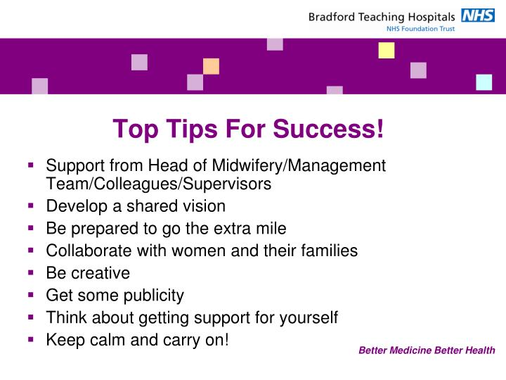 Top Tips For Success!