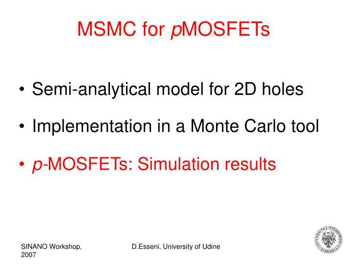 MSMC for