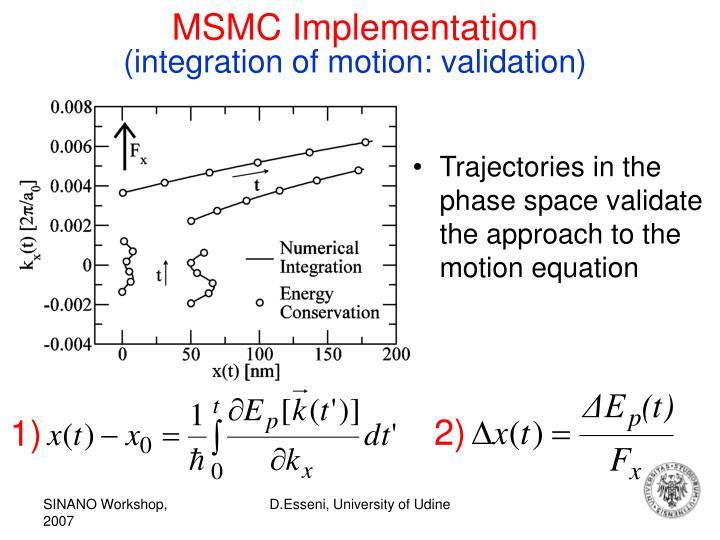 MSMC Implementation