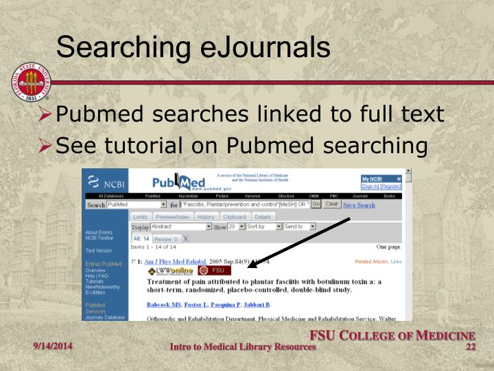 Searching eJournals