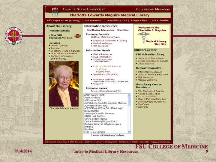 Intro to Medical Library Resources
