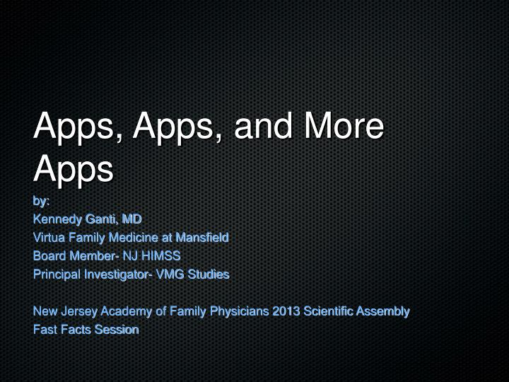 apps apps and more apps n.