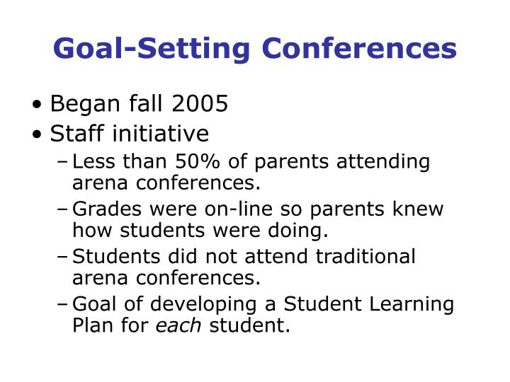 Goal-Setting Conferences