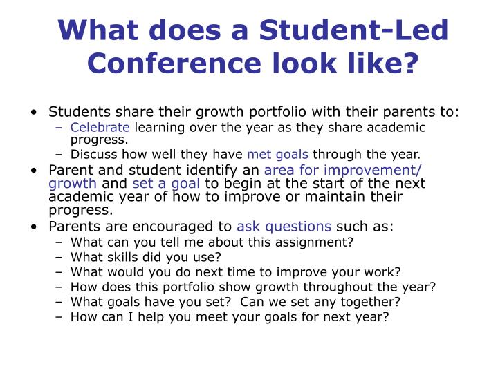 What does a Student-Led