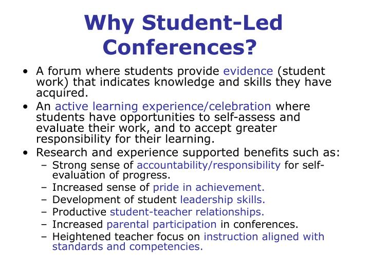 Why Student-Led Conferences?
