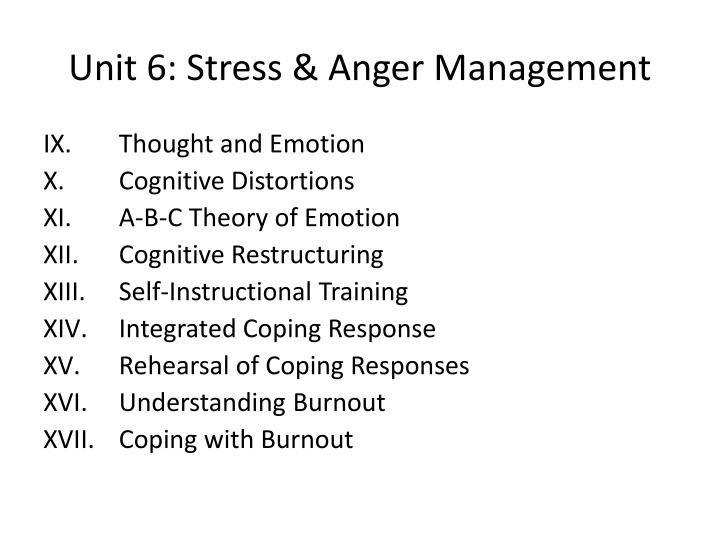 Ppt Unit 6 Stress Anger Management Powerpoint Presentation Id