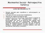 movimentos sociais retrospecitiva hist rica