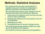 methods statistical analyses