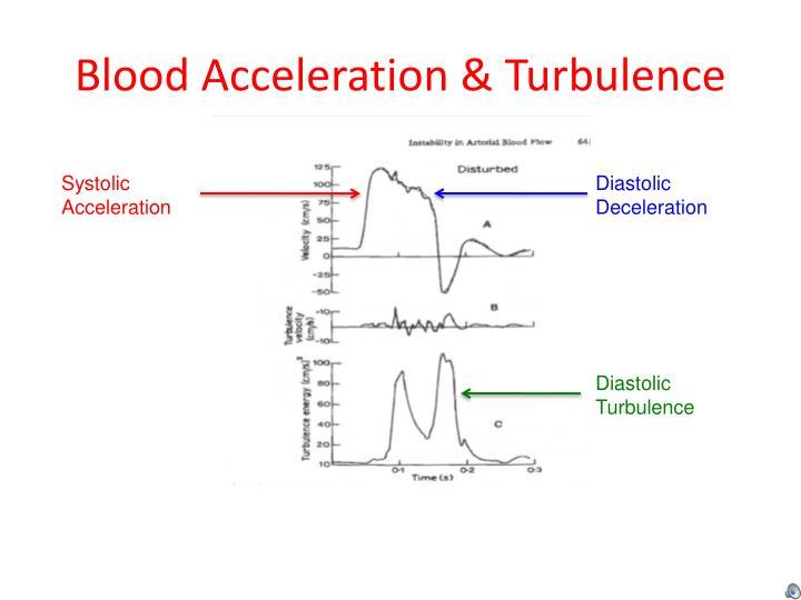 Blood Acceleration & Turbulence