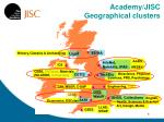 academy jisc geographical clusters