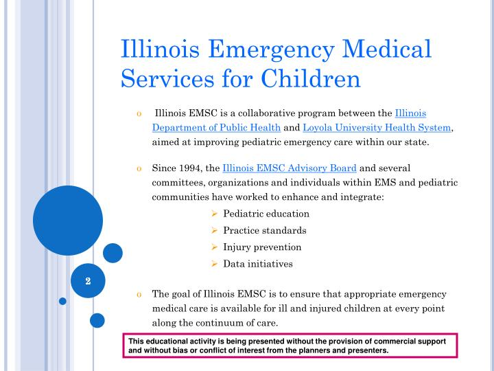 Illinois emergency medical services for children
