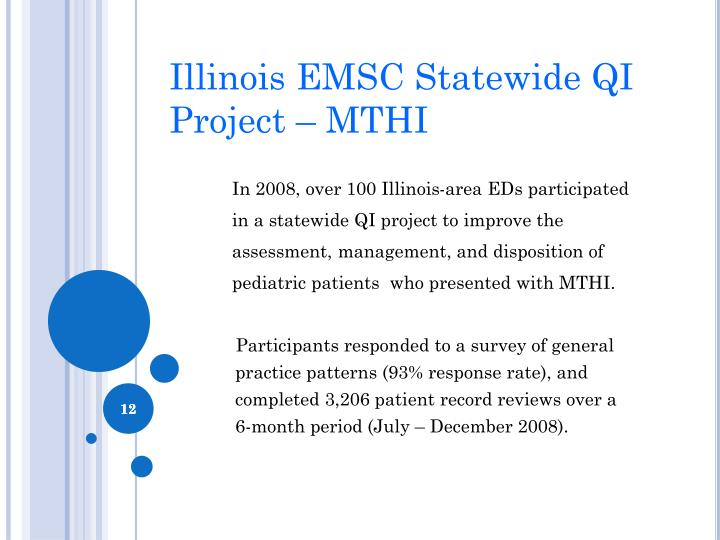 Illinois EMSC Statewide QI Project – MTHI