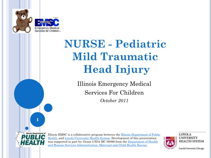 Nurse pediatric mild traumatic head injury