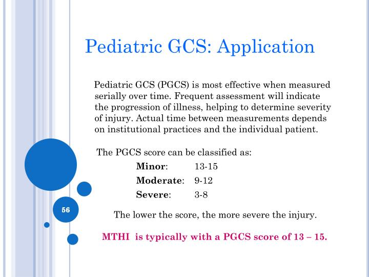 Pediatric GCS: Application