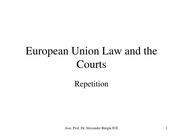 European union law and the courts