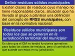 definir residuos s lidos municipales