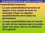 sostenibilidad de la gesti n municipal1