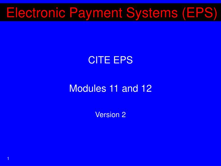 electronic payment systems eps n.