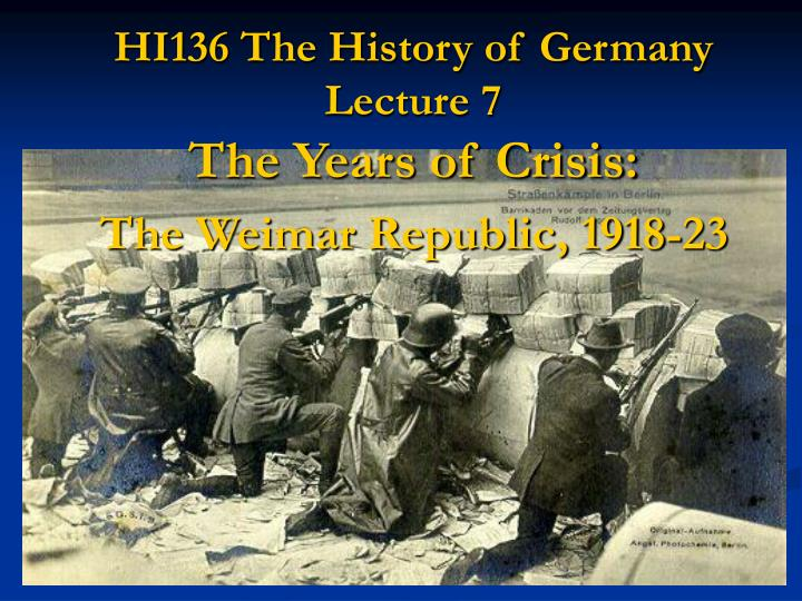an analysis of the years during the weimars republic Source analysis pg 1252 what is the during the year of the the main threat to the stability of the weimar republic in the period 1919-1923 came from the.