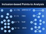 inclusion based points to analysis
