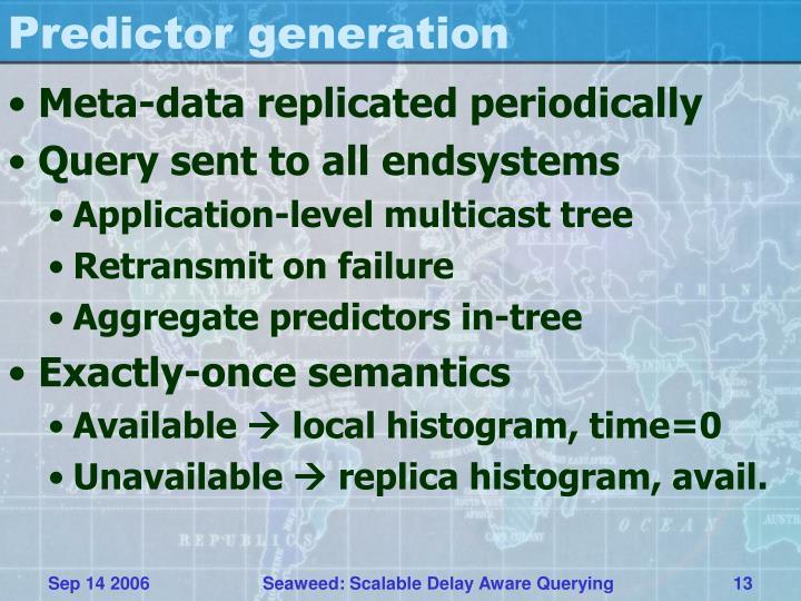 Predictor generation