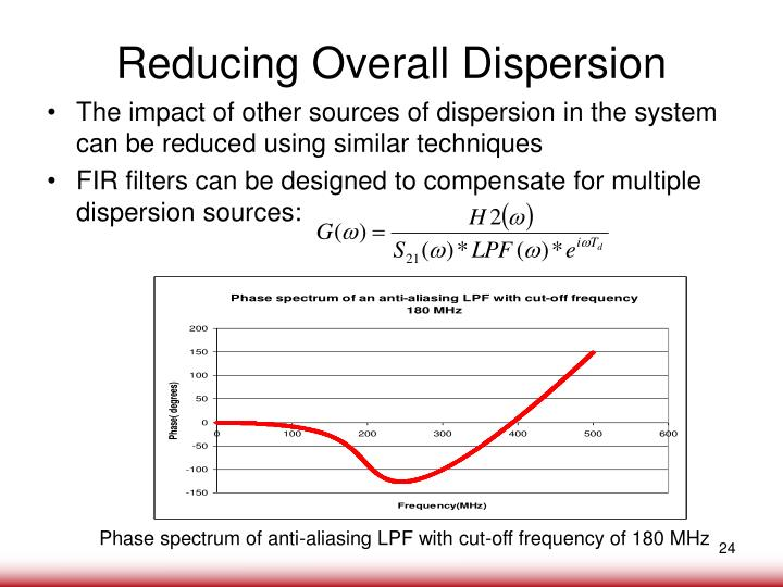 Reducing Overall Dispersion