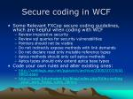 secure coding in wcf1