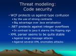 threat modeling code security