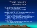 threat modeling confidentiality
