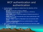 wcf authentication and authentication