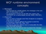 wcf runtime environment concepts