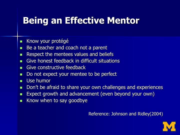 Being an Effective Mentor