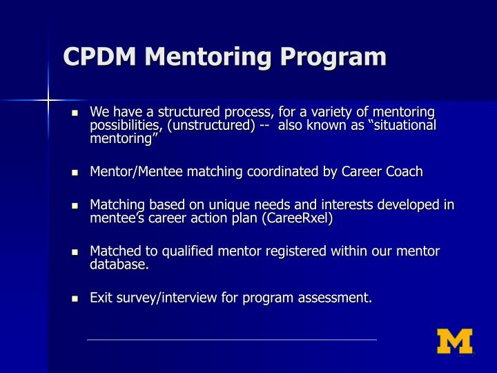 CPDM Mentoring Program