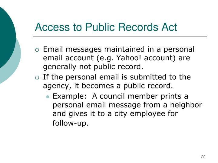 Access to Public Records Act