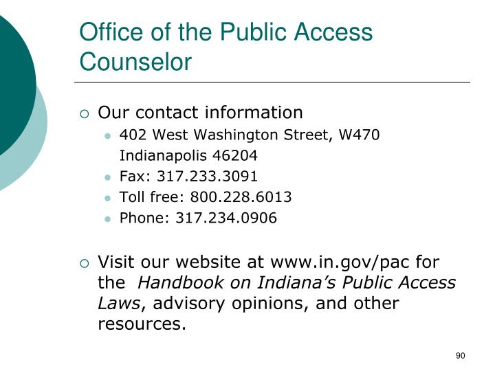 Office of the Public Access Counselor