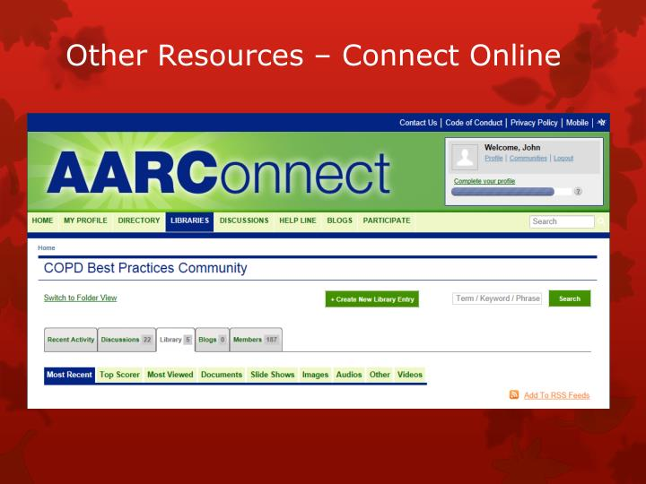 Other Resources – Connect Online